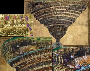 Mapas do inferno BOTTICELLI